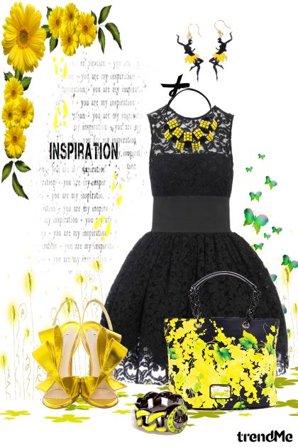 Yelow inspiraton from collection Barve govorijo by Natallie