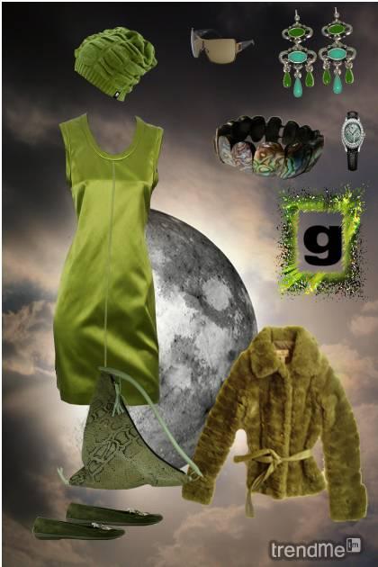 green walk under the moon