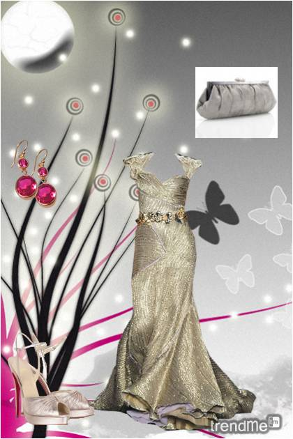 Gold,silver and touch of pink