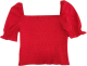 Clothes/footwear details 3 COLORS Retro square neck elastic top (Shirts)