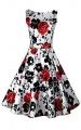 Clothes/footwear details ACEVOG Cocktail Dress 1950's Floral Vintage Christmas Party Dress Plus Size (Dresses)