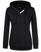 Clothes/footwear details AMZ PLUS Women's Long Sleeve Button V-Neck Tunic Tops Pullover Hoodies (Shirts)