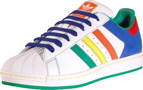 Adidas scarpe adidas uomini superstar 2 bc colorato