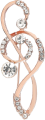 Clothes/footwear details Alloy Diamond-studded Musical Note Brooch Nhje307957 (Other jewelry)
