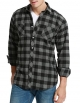 Clothes/footwear details Dioufond Men's Flannel Plaid Long Sleeve Casual Button Down Shirts (Shirts)