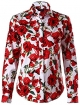 Clothes/footwear details Dioufond Women Floral Print Button Down Shirts Long Sleeve Shirt Blouse (Shirts)