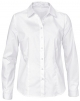 Clothes/footwear details Dioufond Womens Basic Long Sleeve Formal Work Wear Simple Shirt With Stretch (Shirts)