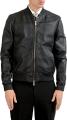 Clothes/footwear details Fendi Men's Black 100% Leather Full Zip Bomber Jacket US M IT 50 (Outerwear)