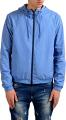 Clothes/footwear details Fendi Men's Blue Full Zip Hooded Reversible Windbreaker US S IT 48 (Outerwear)