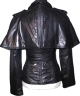 Clothes/footwear details Fendi NWT $4,740 Black Caped Leather Jacket Coat Small 4 US 38 IT (Outerwear)