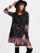 Clothes/footwear details Flower Print Tunic Dress (Dresses)