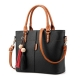 Clothes/footwear details H.Tavel Lady Women's Soft Leather Top-Handle Handbags Work Place Shoulder Tote Bag (Bag)