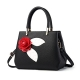 Clothes/footwear details H.Tavel New FaShion Sweety Womens 3D Rose Flower Leather Top-Handle Tote Handbag (Bag)