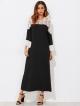 Clothes/footwear details Lace Crochet Contrast Dress (Dresses)