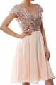 Clothes/footwear details MACloth Women Cap Sleeve Short Bridesmaid Dress Sequin Wedding Party Formal Gown (Dresses)