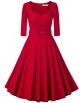 Clothes/footwear details MUXXN Women's 1950s Vintage Scoop Neck 3/4 Sleeve Pleated Swing Cocktail Dress (Dresses)