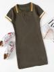Clothes/footwear details Striped Sleeve Knit Dress (Dresses)