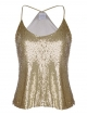 Clothes/footwear details Anna-Kaci Womens Sequin Spaghetti Strap Crop Camisole Tank Top, Matte or Shiny (Shirts)