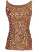 Clothes/footwear details Anna-Kaci Womens Sparkle & Shine Glitter Sequin Embellished Sleeveless Round Neck Tank Top (Shirts)