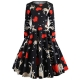 Clothes/footwear details Asskdan Women's Christmas Dress Xmas Gift Long Sleeve Printed Dress Pullover Flared A-Line Swing Dress (Dresses)