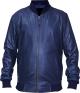 Clothes/footwear details Aviator Mens Blue Lambskin Leather Bomber Jacket (Jacket - coats)