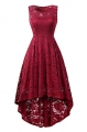 Clothes/footwear details BBX Lephsnt Womens Lace Cocktail Dress Elegant Floral Sleeveless Swing High Low Formal Prom Dress (Dresses)