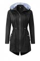 Clothes/footwear details BBX Lephsnt Womens' Waterproof Lightweight Raincoat Hooded Outdoor Hiking Long Rain Jacket (Jacket - coats)