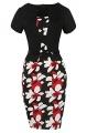 Clothes/footwear details Babyonlinedress Babyonline Women's Patchwork Floral Print Business Work Bodycon Pencil Dress (Dresses)