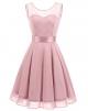 Clothes/footwear details BeryLove Women's Short Floral Lace Bridesmaid Dress A-line Swing Party Dress (Dresses)