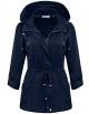 Clothes/footwear details Bifast Women's Waterproof Front-Zip Lightweight Hoodie Hiking Outdoor Raincoat Jacket with Pocket S-XXL (Outerwear)