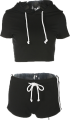 Clothes/footwear details Black and white ribbon short-sleeved spo (Shirts)