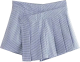 Clothes/footwear details Blue and White Pleated Houndstooth Skirt (Skirts)