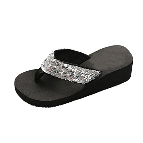 333683bf0eedf Amazon.com Sandals - Boomboom_Sandals Summer Sandals,Boomboom 2018 Fashion  Women Sequins Anti-Slip Sandals Slipper Indoor Outdoor Flip-Flops
