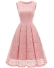 Clothes/footwear details Bridesmay Women Sleeveless Modest Collar Floral Lace Bridal Shower Cocktail Party Dress (Dresses)