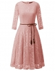 Clothes/footwear details Bridesmay Women's 3/4 Sleeve Flare Floral Lace Swing Cocktail Party Bridesmaid Dress (Dresses)