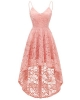 Clothes/footwear details Bridesmay Women's V-Neck Adjustable Spaghetti Straps High Low Cocktail Bridesmaid Lace Dress (Dresses)
