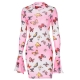 Clothes/footwear details Butterfly print flared long sleeve dress (Dresses)