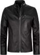Clothes/footwear details CLASSIC CAFE RACER MENS BLACK LEATHER JACKET (Jacket - coats)