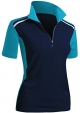 Clothes/footwear details CLOVERY Women's Active Wear Short Sleeve Zipup Polo Shirt (T-shirts)