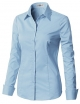 Clothes/footwear details CLOVERY Women's Basic Long Sleeve Slim Fit Button Down Shirt (Long sleeves shirts)