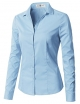 Clothes/footwear details CLOVERY Women's Long Sleeve Slim Fit Button Down Shirt (Long sleeves shirts)