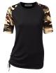 Clothes/footwear details CLOVERY Women's Short Sleeve Top Raglan Floral Printed T-Shirt (T-shirts)