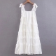 Clothes/footwear details Cake tiered swing skirt strap dress (Dresses)