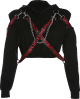 Clothes/footwear details Chain letter ribbon design cool cool swe (Long sleeves t-shirts)