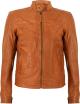 Clothes/footwear details Classic Slimfit Tan Sheepskin Mens Leather Jacket (Jacket - coats)