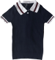 Clothes/footwear details College wind color stitching lapel polo (Bolero)