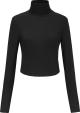 Clothes/footwear details Cross strap backless long sleeve knit t- (Shirts)