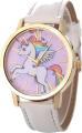 Clothes/footwear details Cute Children's Pony Unicorn Rainbow Wings Belt Quartz Ladies Casual Watch Whole (Belt)