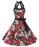 Clothes/footwear details DRESSTELLS Vintage 1950s Rockabilly Polka Dots Audrey Dress Retro Cocktail Dress (Dresses)