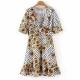 Clothes/footwear details Daisy Print High Waist Chiffon Dress (Dresses)